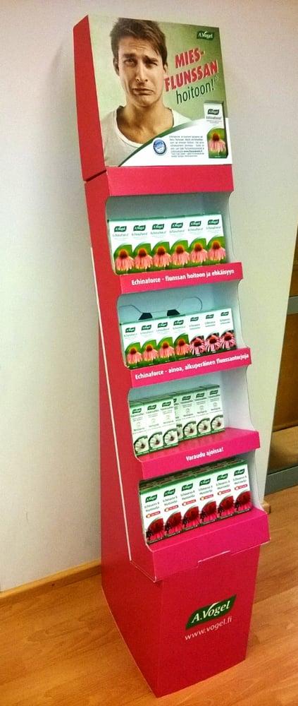 Pocket 2 tuo tuotteet näyttävästi ja helposti ostettavaksi. Se on näyttävä ja kätevä teline erityisesti pienikokoisille ja kevyille tavaroille. Telineeseen on helppo saada esille lisäinfoa, hintalaput tai -listat, lokero esitteille jne.