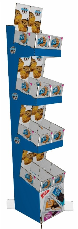 Myyntiteline 2721 on suunniteltu pienille, suoraan myyntieräpakkauksista myytäville tuotteille, kuten vaikkapa patukat ja karkkiaskit.