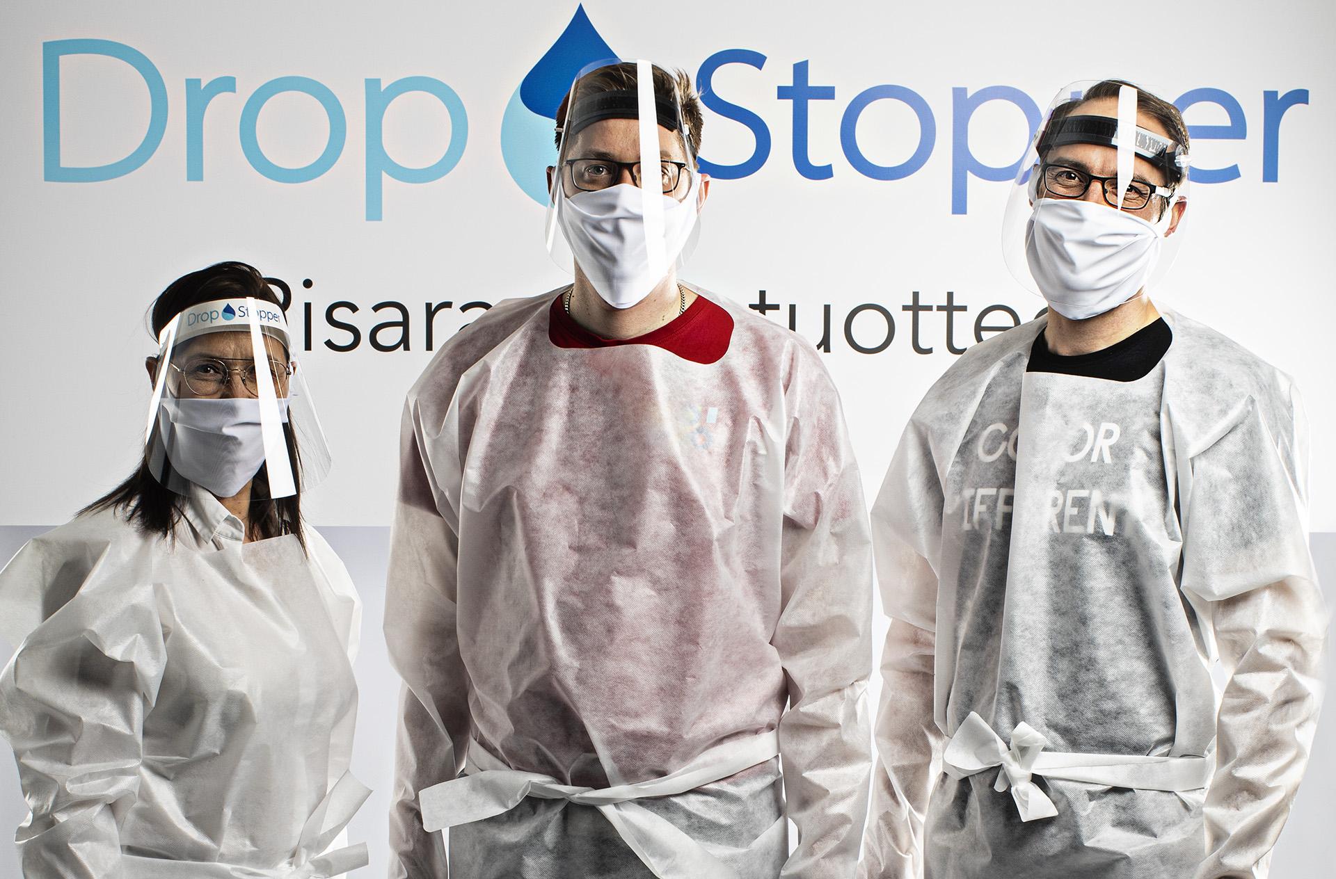 DropStopper-suojaessu on kertakäyttöinen ja sopii jokaiselle