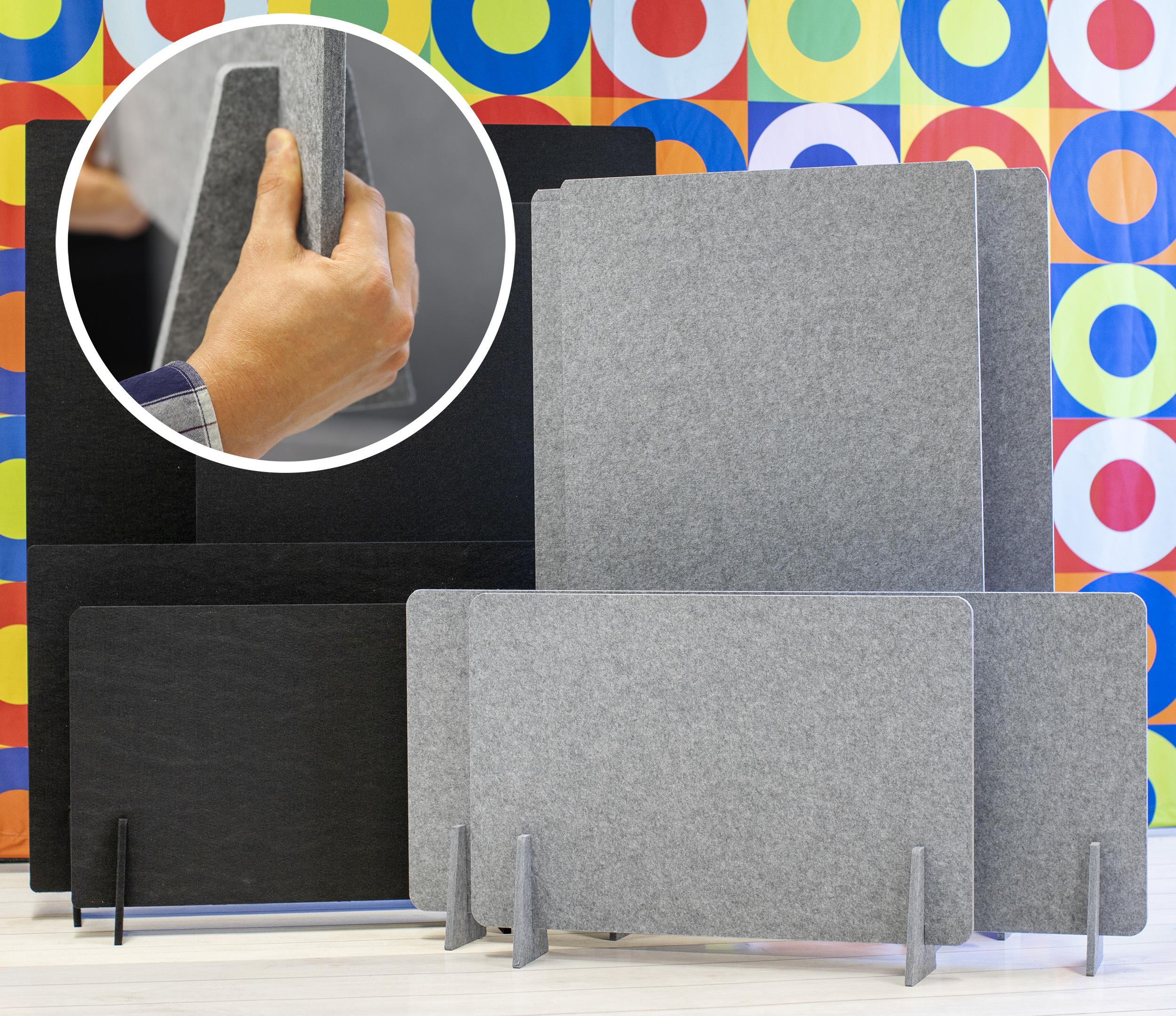 Akustoivat työpistesuoja ovat kätevä tapa rauhoittaa avotoimistojen melua. Työpistesuoja luot yksityisyyttä työpisteille ja sermejä on helppo siirtää.