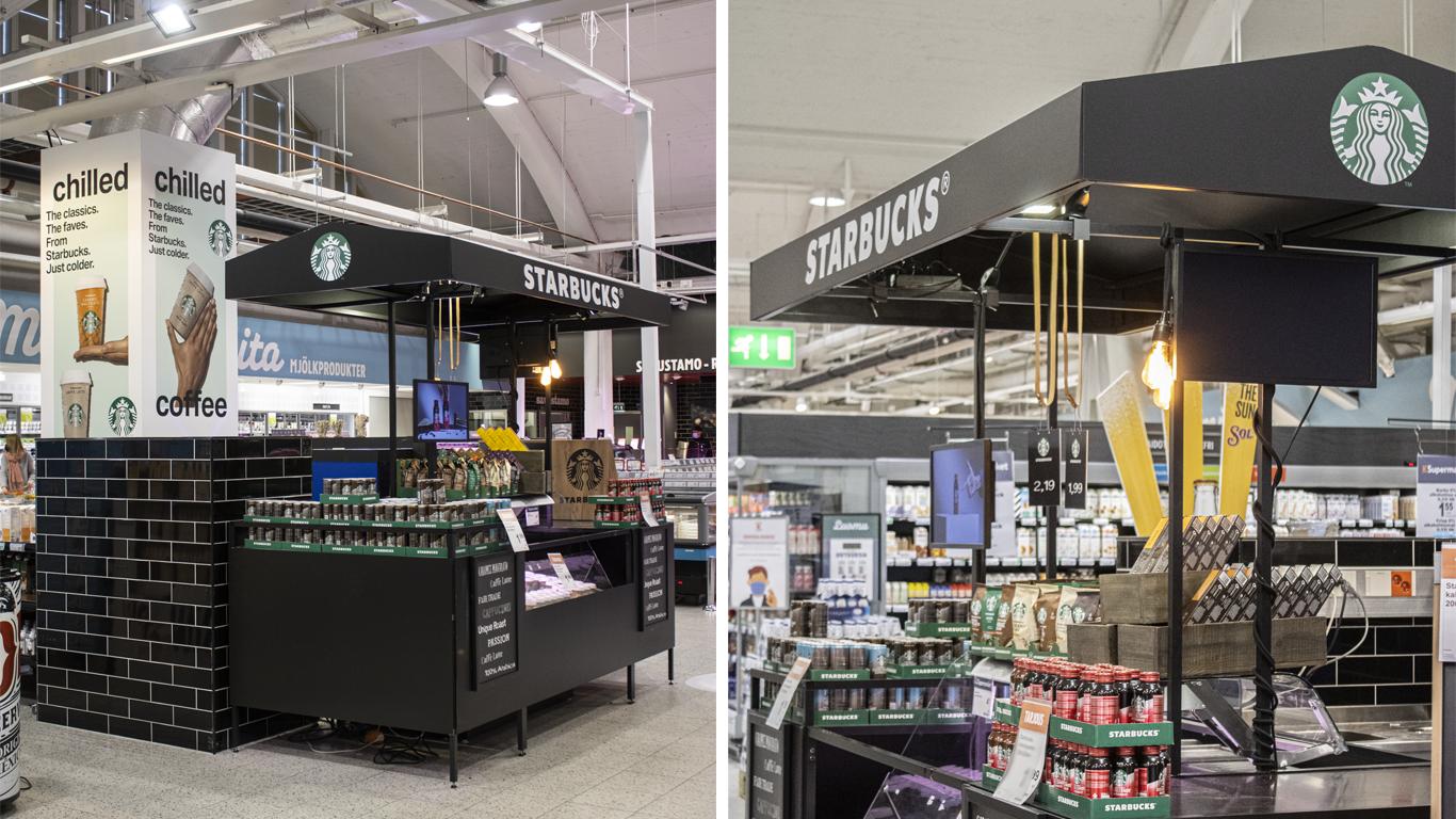 Starbucksin myyntipiste sai uuden ilmeen K-Supermarketissa