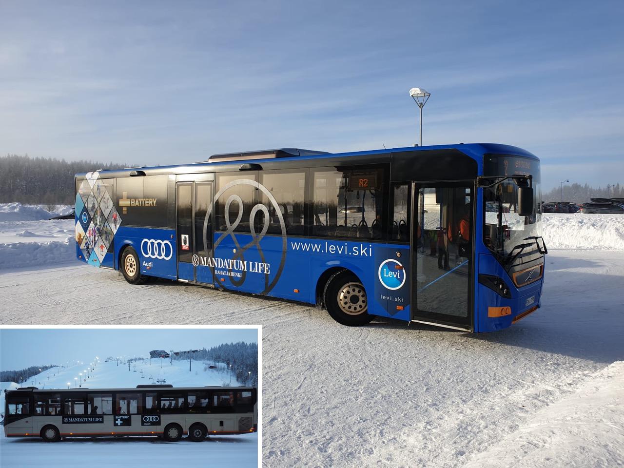 Levinskibussit teipattuna uudella ilmeellä